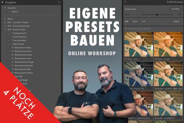 Online Workshop: Eigene Presets (Lr & PS) bauen - 8.2.21