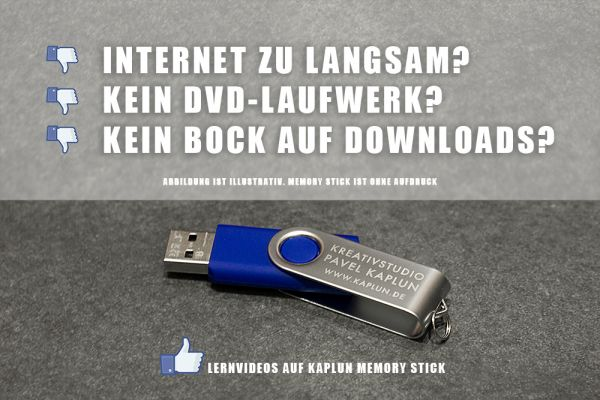 Memory Stick für Downloadprodukte